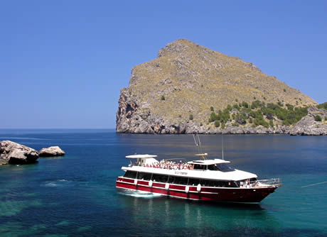 Excursion boat in majorca photo